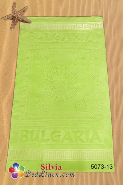 Плажна кърпа България - светло зелена
